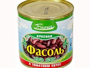 Фасоль красная в томатном соусе 400 мл.