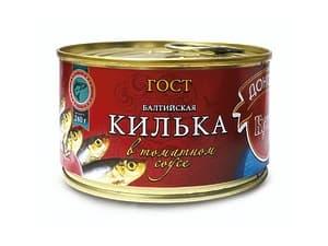 Килька в томатном соусе 240 гр.