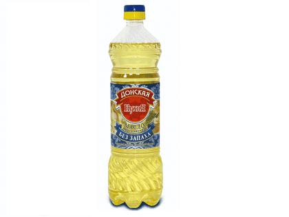 Масло подсолнечное рафинированное (1 бутылка 0,9л.)