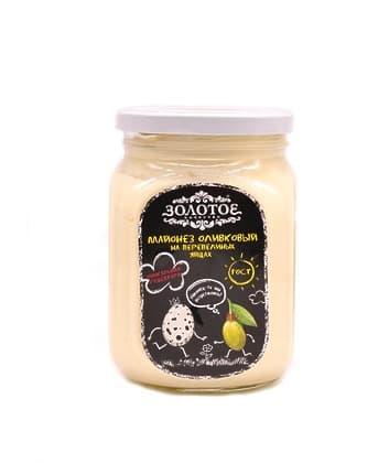 Майонез оливковый на перепелиных яйцах