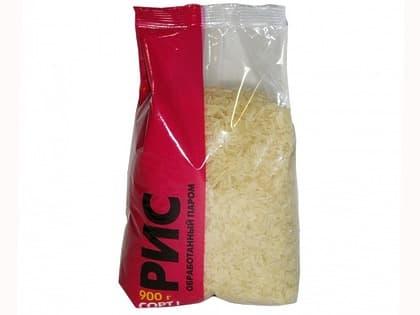 Рис пропаренный (пачка 900 гр.)