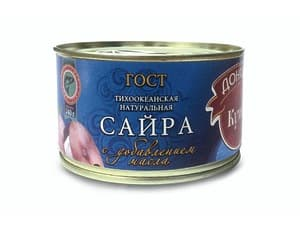 Сайра натуральная с доб. масла 240 гр.